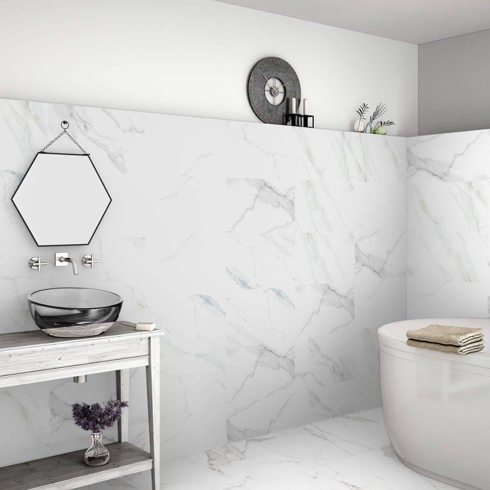 Calacatta Marble Effect 60x30 Matt Tiles - Luxury Tiles