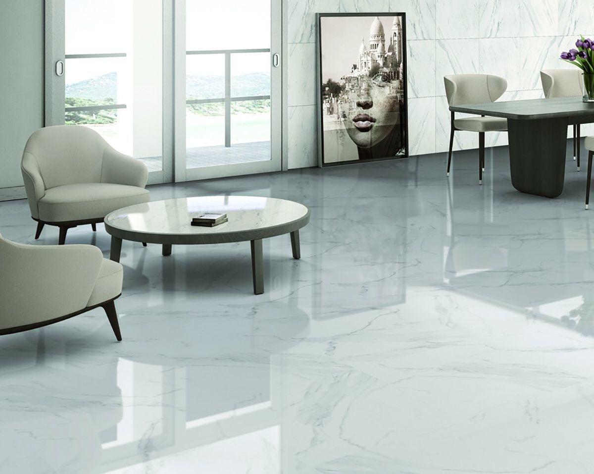 luxury tiles gentle calacatta marble effect 450x450mm floor tile