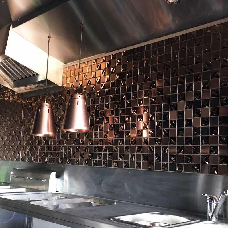 luxury tiles copper metallica stainless steel mosaic tile
