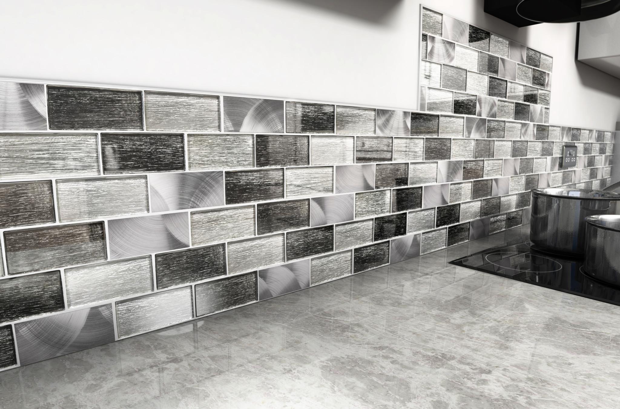 craft ceramics portland grey glass brick mosaic tile