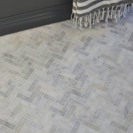 luxury tiles carrara marble honed chevron mosaic 30x31 7cm tile