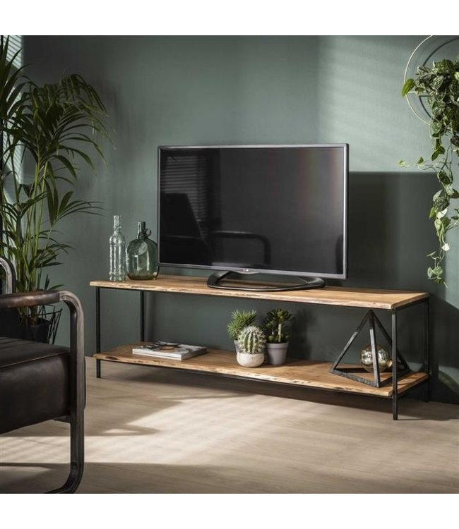 meuble tv bois massif industriel morin