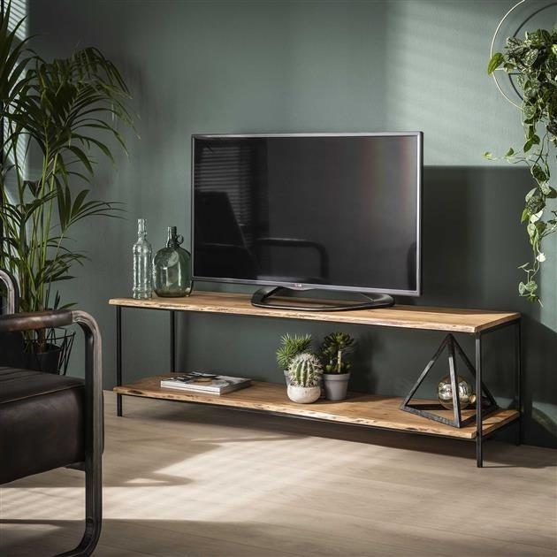 meuble tv bois massif industriel petits prix dimehouse