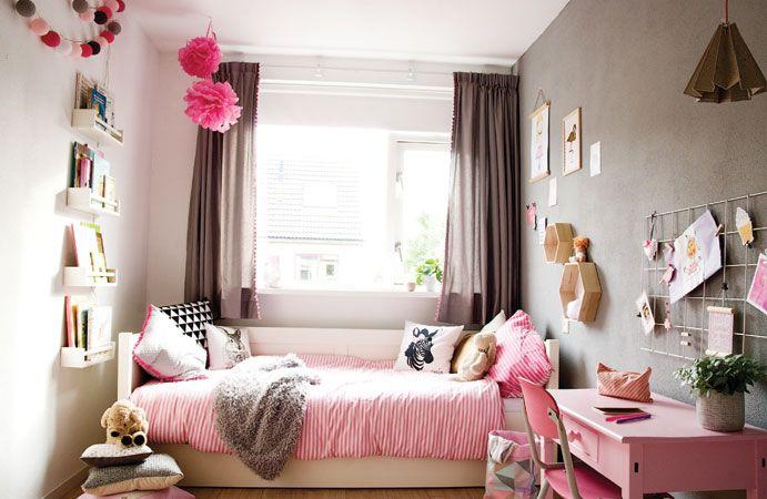 Blog  Meisjeskamer in roze met grijs  Wonen voor jou
