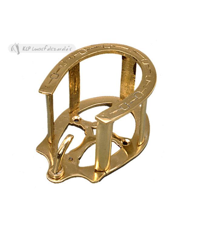 tattini tattini bridle rack w horse shoe solid brass