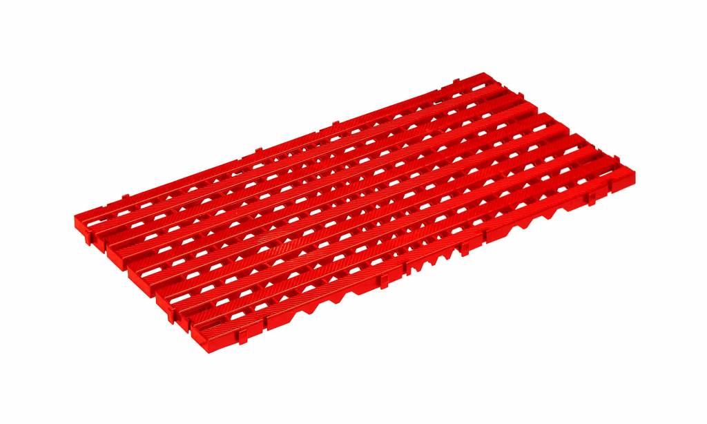 plastic floor tile 800x400x25 red