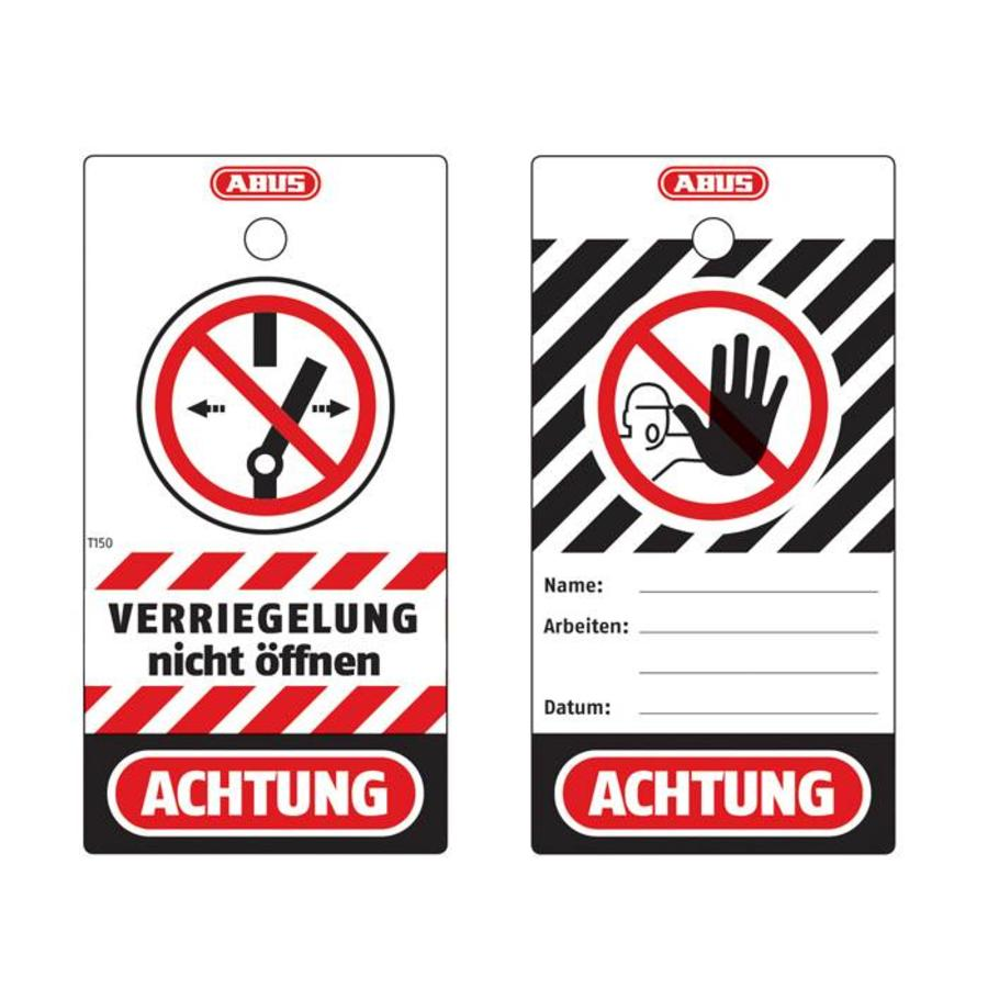 hight resolution of polypropylen safety tags t150