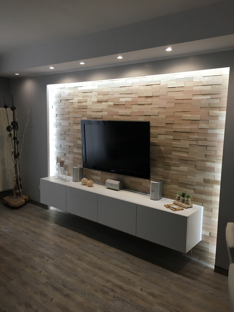 Tv In Wand Tv Backwall | The New Housing Trend | Style4walls - Style4walls L Modern And Trendy Wall Coverings
