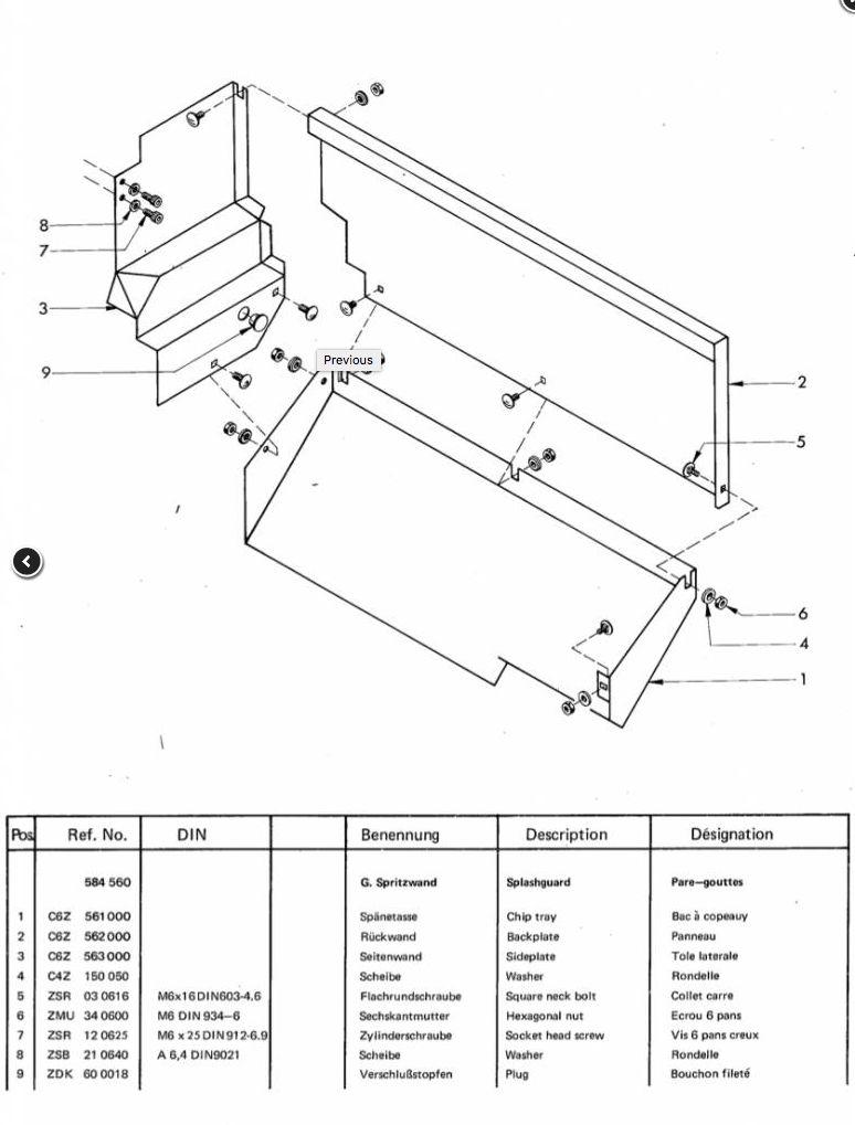 Sold: Emco Maximat Super 11 or Compact 10 Splashguard