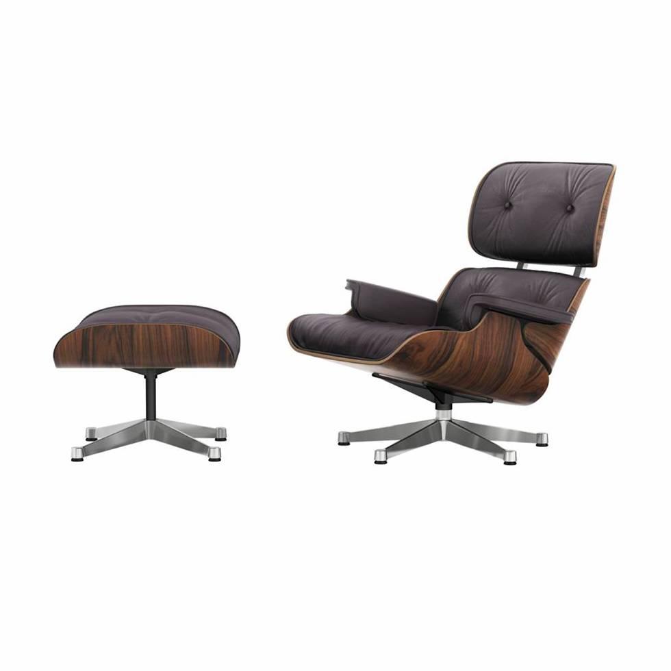 vitra lounge chair office cushion ottoman santos palisander workbrands