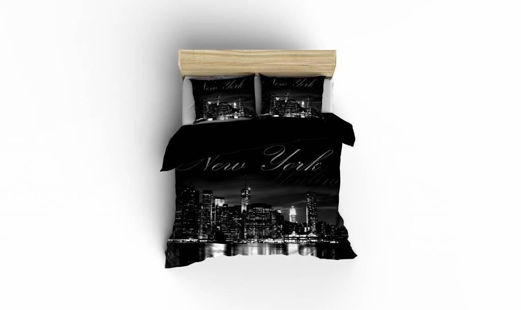 Dekbedovertrek New York Skyline Black  Nightlifeliving