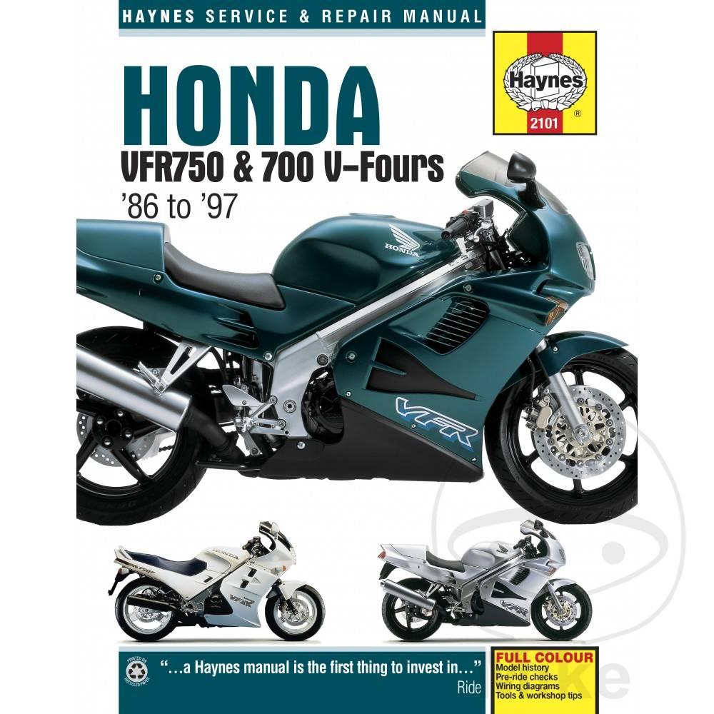 hight resolution of haynes repair manual honda vfr750 700 v fours 86