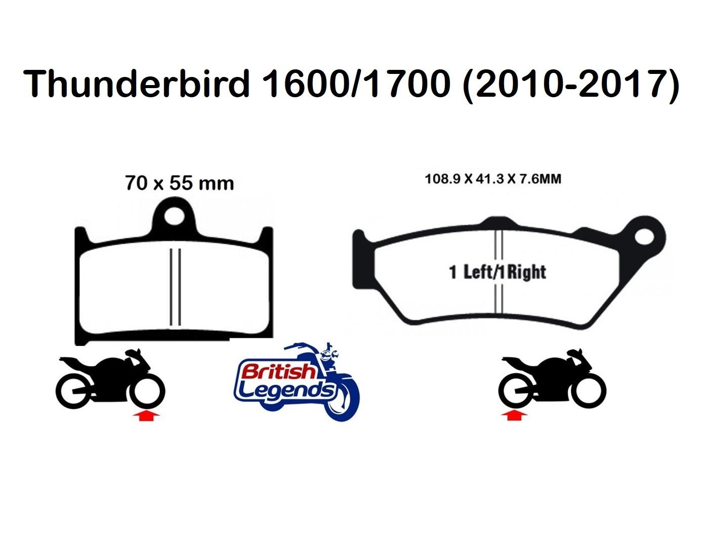 EBC Sintered Brake Pads for Triumph Thunderbird 1600/1700