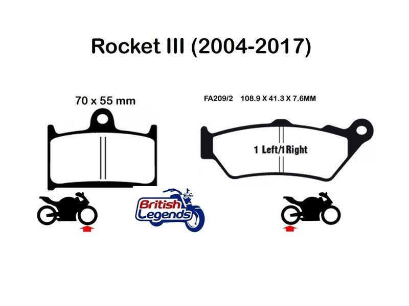 Plaquettes de Frein Sintérisées EBC pour Triumph Rocket