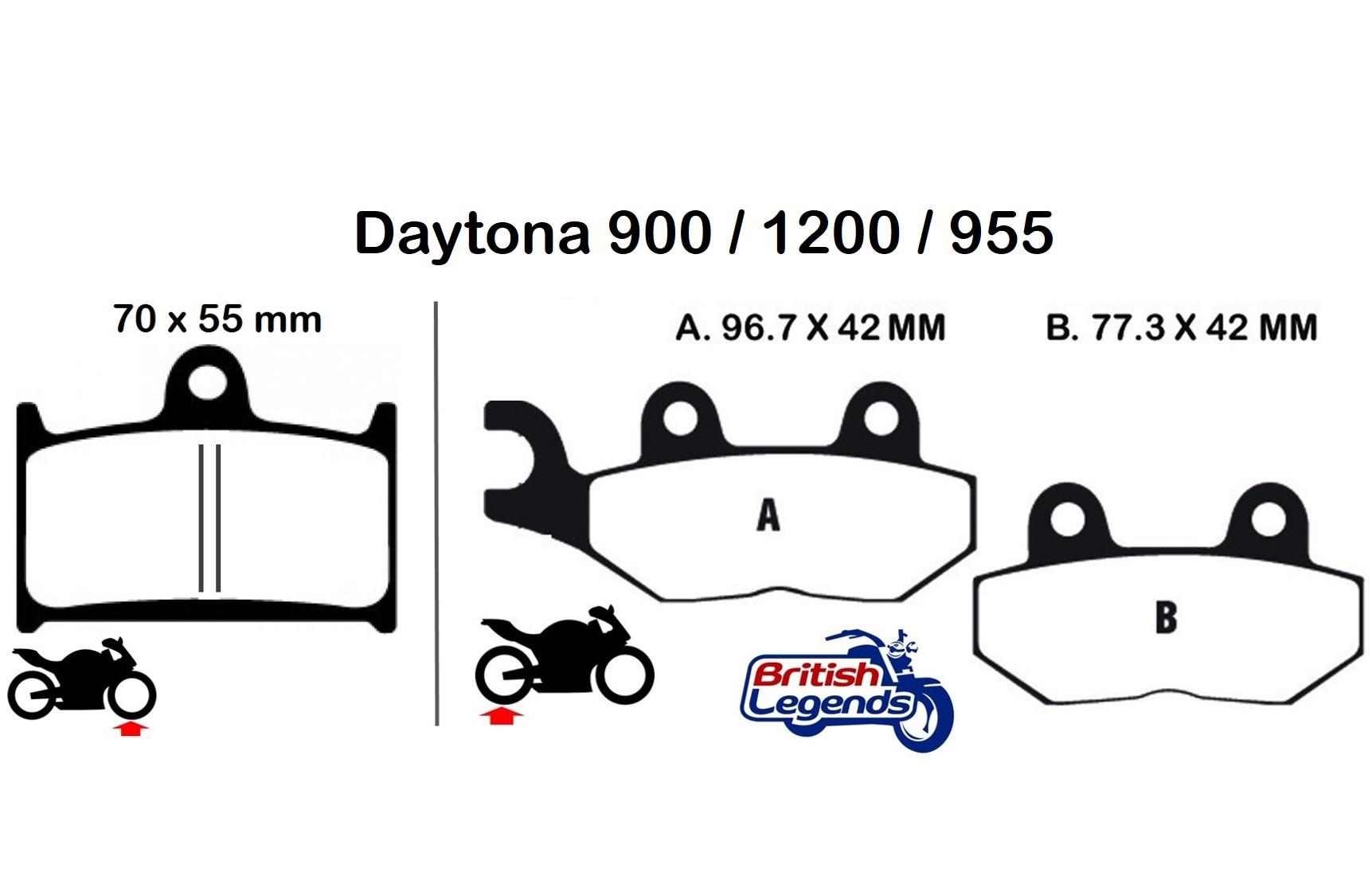 Plaquettes de Freins pour Triumph Daytona 900/1200/955i