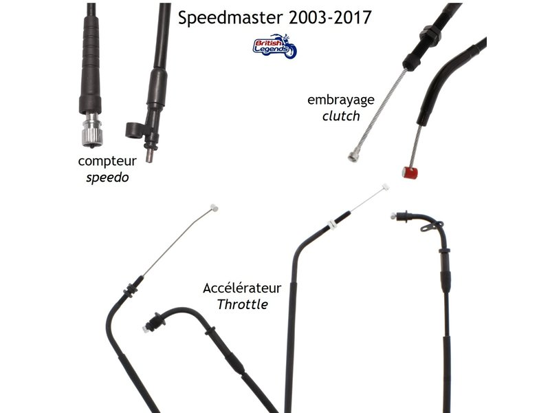 Replacement Cables for Triumph Speedmaster (2003-2017