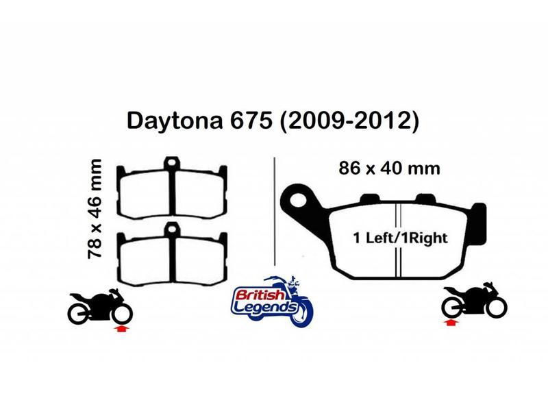 Plaquettes de Frein Sintérisées pour Triumph Daytona 675
