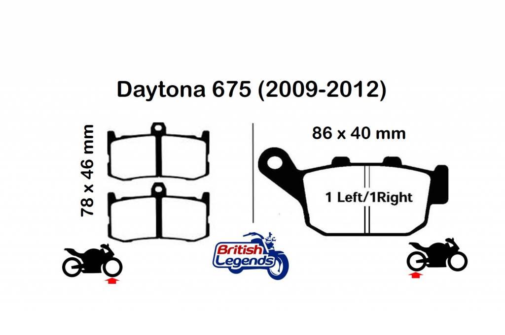 Plaquettes de Frein Sintérisées EBC pour Triumph Daytona