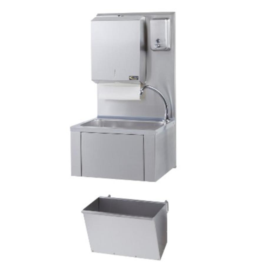 sofinor catering hand sink paper and soap dispenser stainless steel