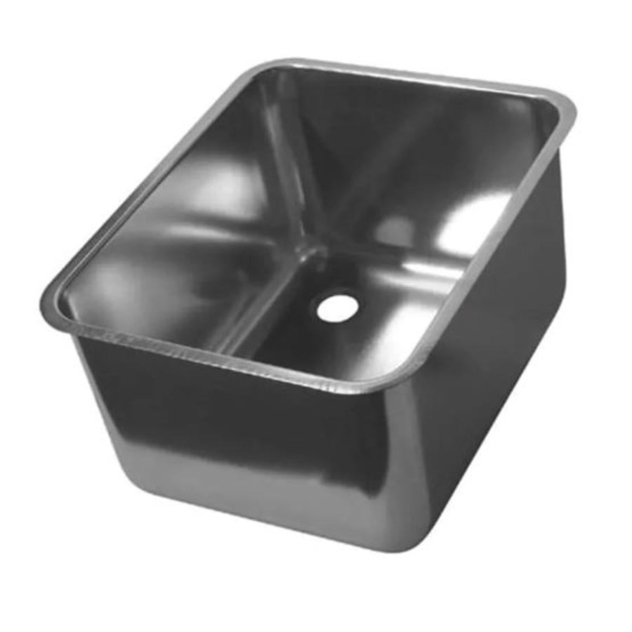 horecatraders stainless steel rectangular sink without overflow 12 formats