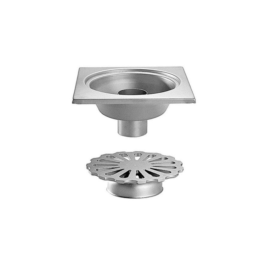 stainless steel floor drain 300x300 mm vertical drain 100 mm