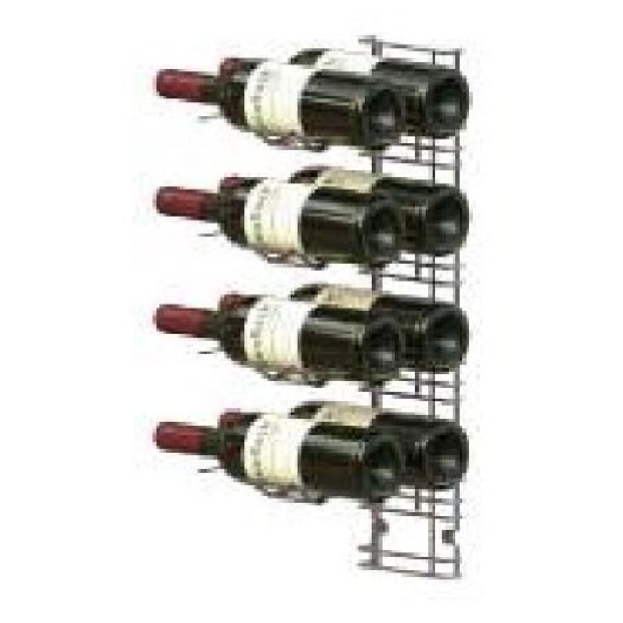 horecatraders wall mounted wine rack 8 bottles