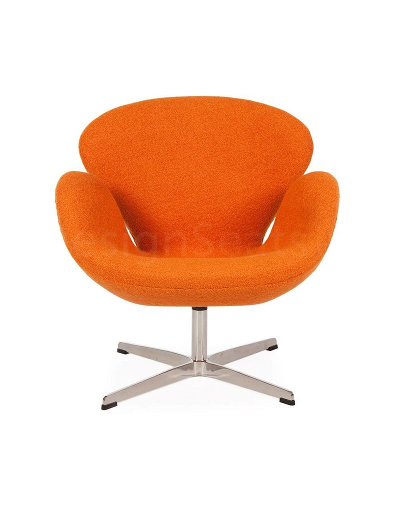 Orange Office Chairs Swan Chair Orange Wool