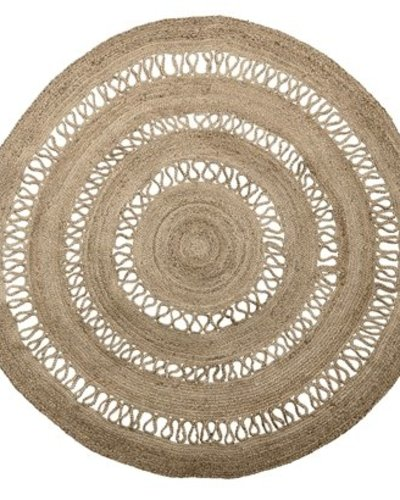 bloomingville tapis rond toile de jute naturel o182cm bloomingville