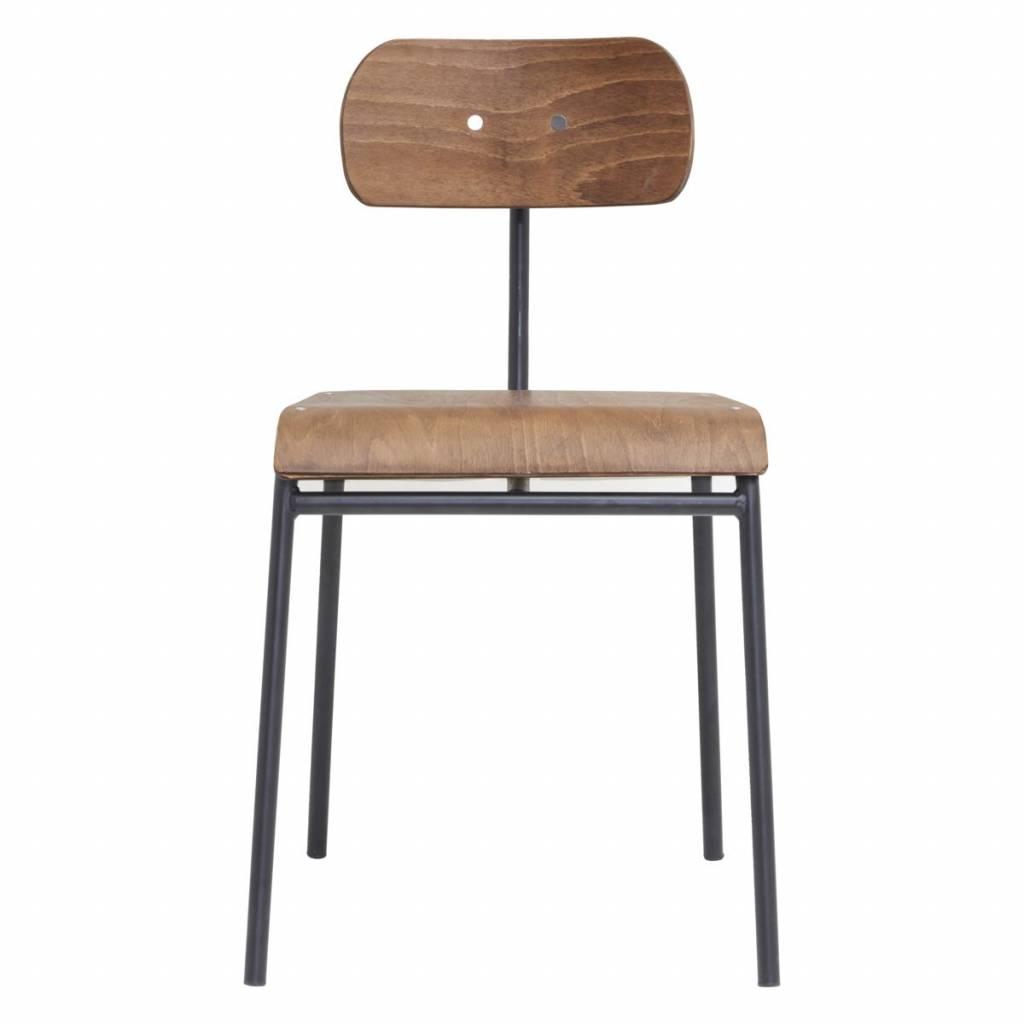 chaise d ecole vintage marron house doctor