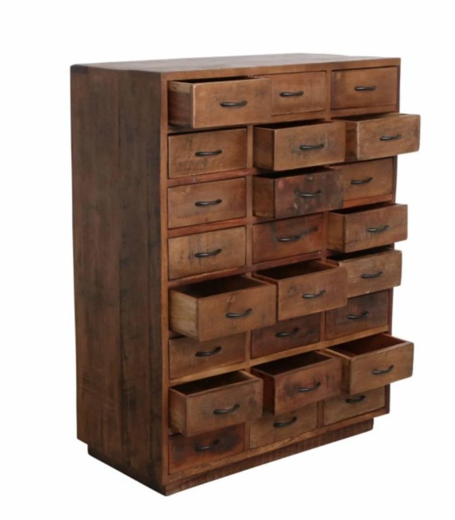 petite lily interiors meuble de metier d atelier bois 24 tiroirs 80x40xh106 piece unique