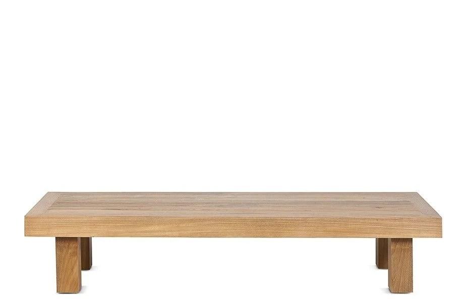 table basse en teck exterieur 150x50xh30cm dareels