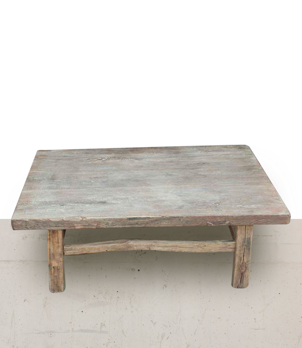 coffee table lounge raw wood 81x60xh29cm unique item