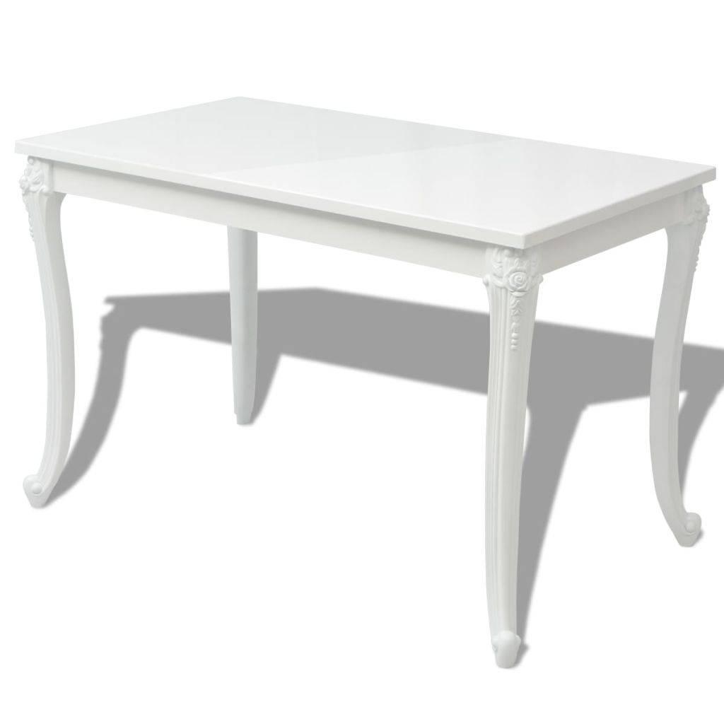 Zwart Wit Hoogglans Eettafel.Eettafel Hoogglans Wit Eettafel Madonna Vierkant 100 Cm Hoogglans Wit