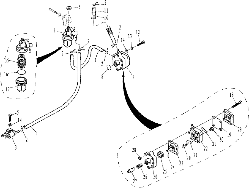 Yamaha/Parsun Buitenboordmotor F9.9, F13.5 & F15 Fuel