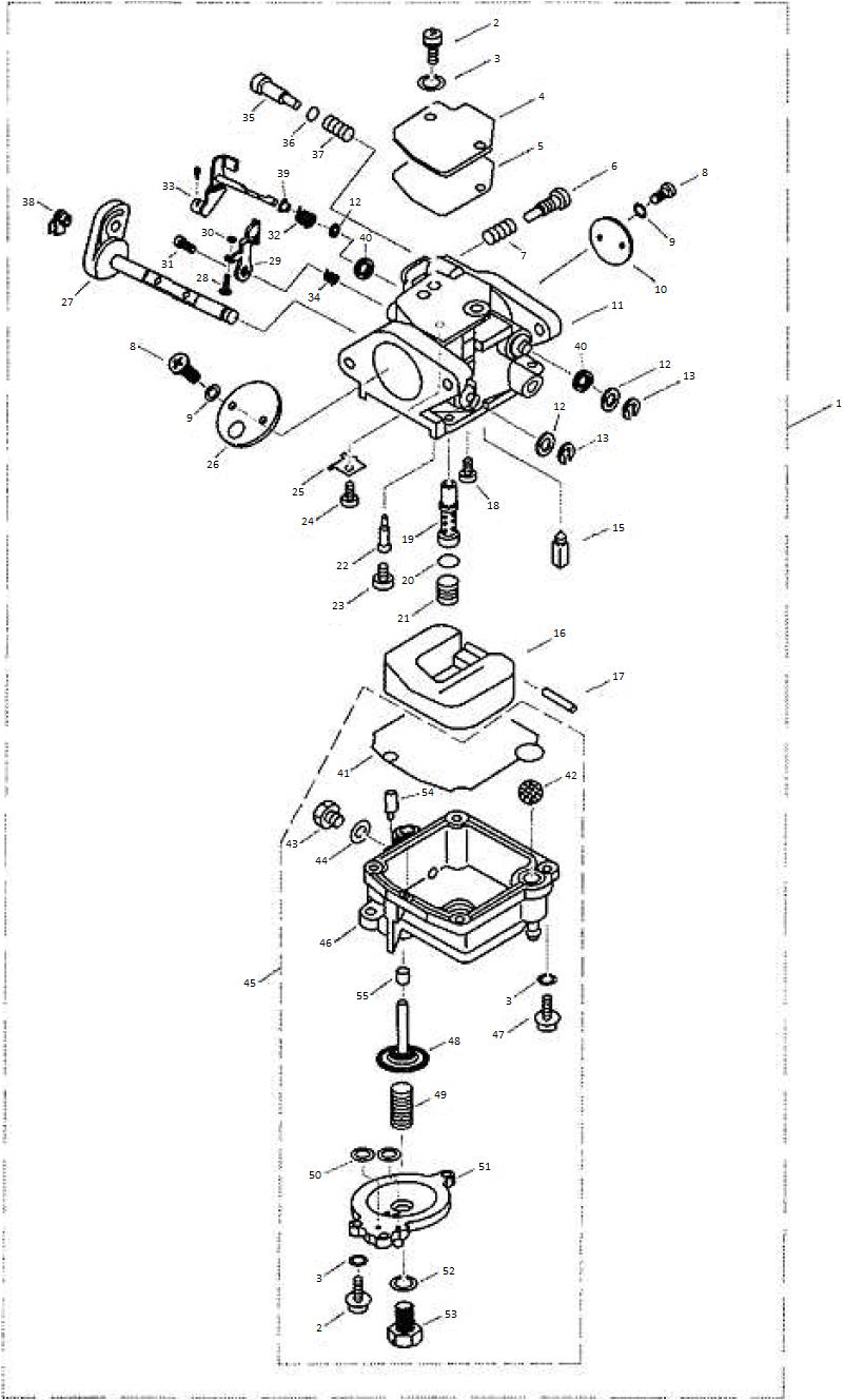 Yamaha / Parsun Outboard Engine F9.9, F13.5 & F15