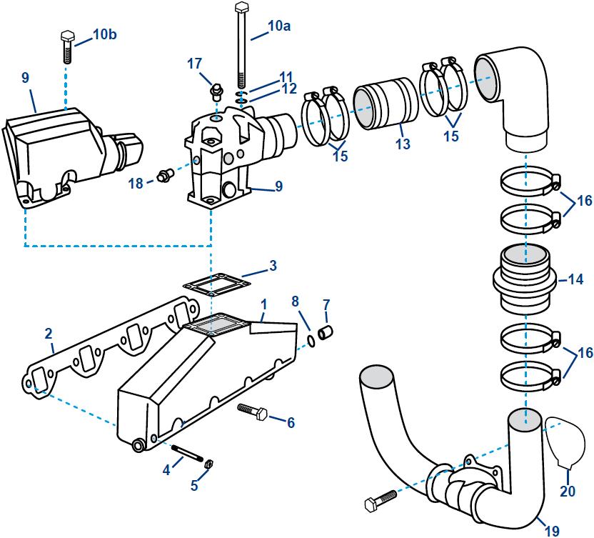Volvo 5,0/5,8L V8 FI/FSi Ford 302/351 CID Spruitstuk