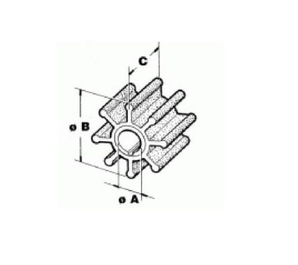 RecMar Yamaha / Selva / Mariner Impeller 4/5 HP 2-stroke