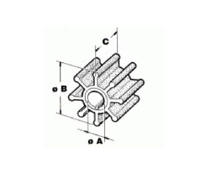 RecMar Yamaha/Selva/Parsun Impeller 20 to 50 HP (6H4-44352