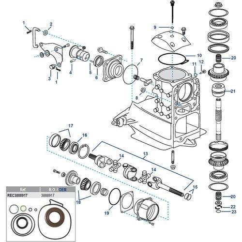 Volvo Penta Gearcase Assy / Sterndrive / Transom Parts