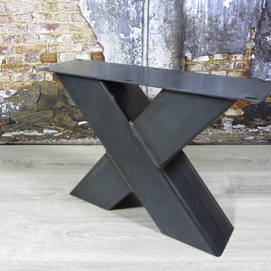 Industriele salontafel poten model X  Industriele tafels