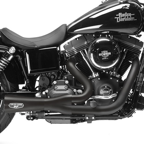 f bomb 2 into 1 exhaust system black h