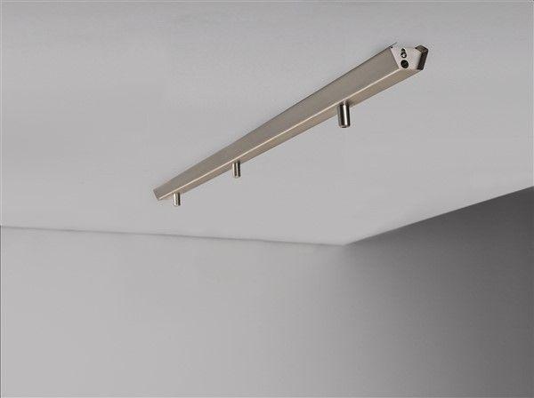 rail pour 3x luminaire suspendu 1130mm long blanc ou gris