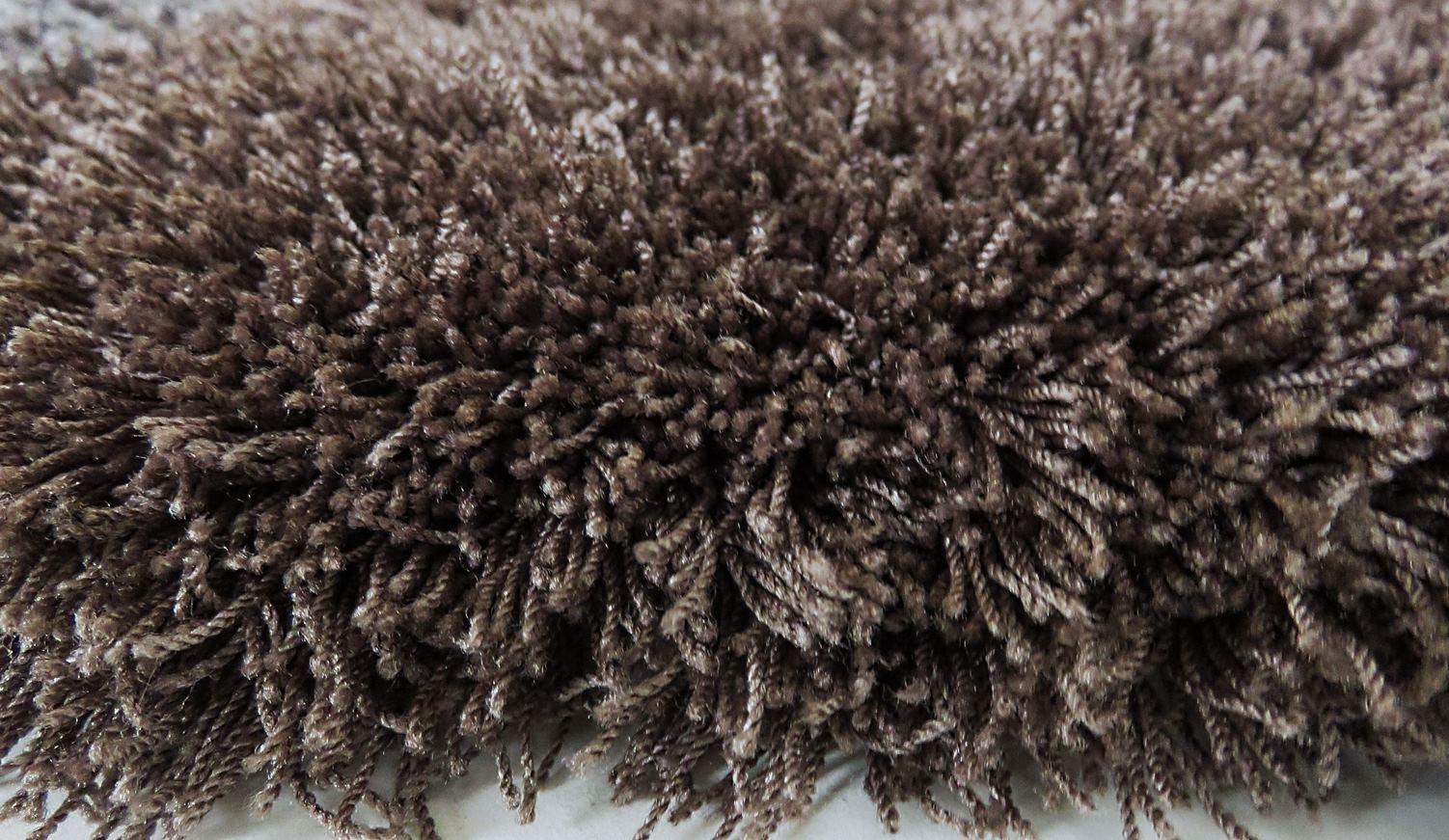 tapis poil long brun 45 mm sur mesure