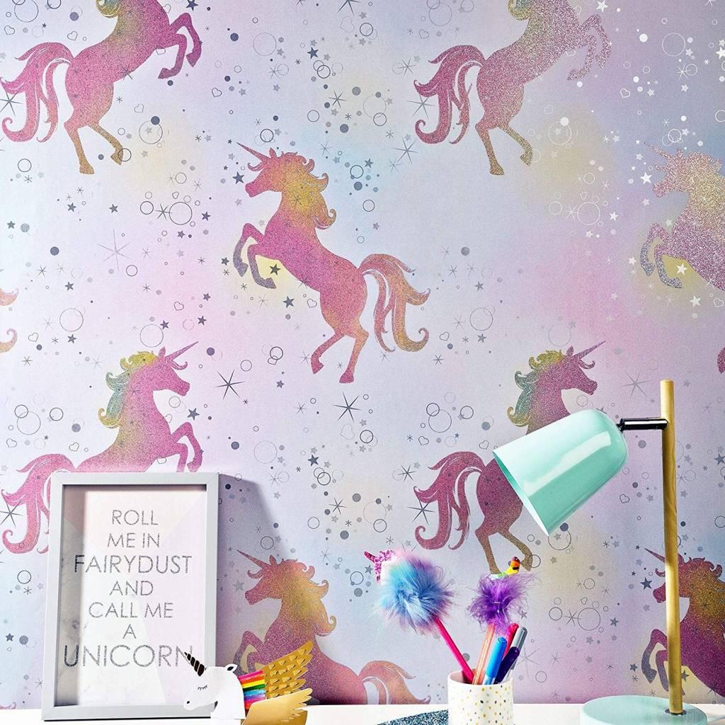 Eenhoorn Unicorn Behang  Charactersmanianl