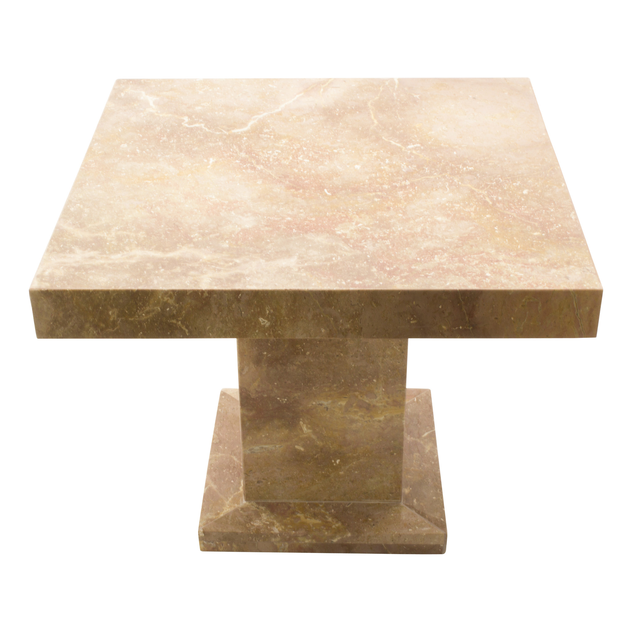 side table square 50x50x40 cm red marble