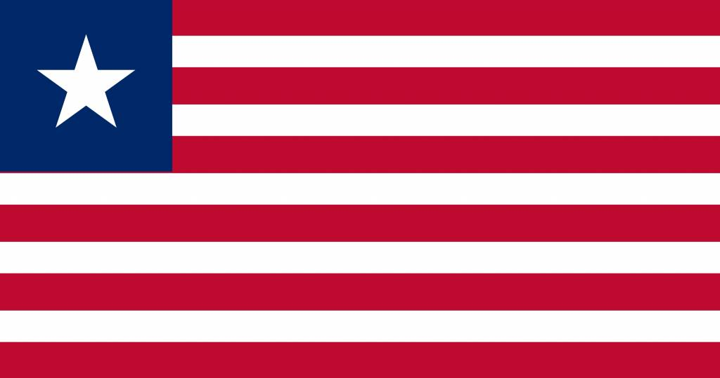 liberia flag coloring country