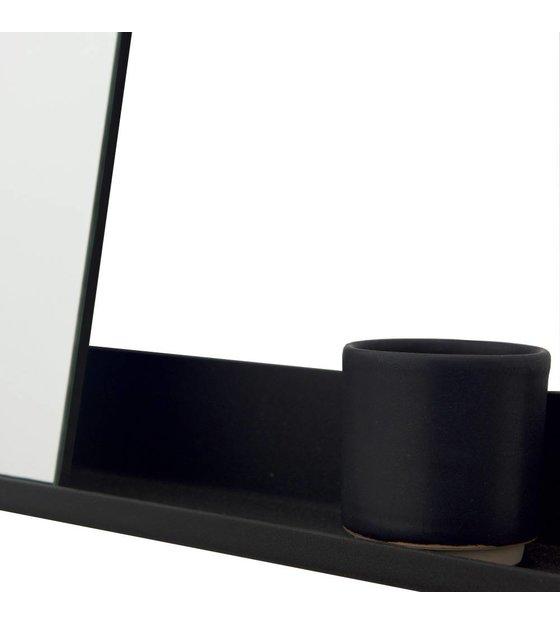 Frama Spiegel Shelf zwart aluminium 70x90cm  wonenmetlefnl