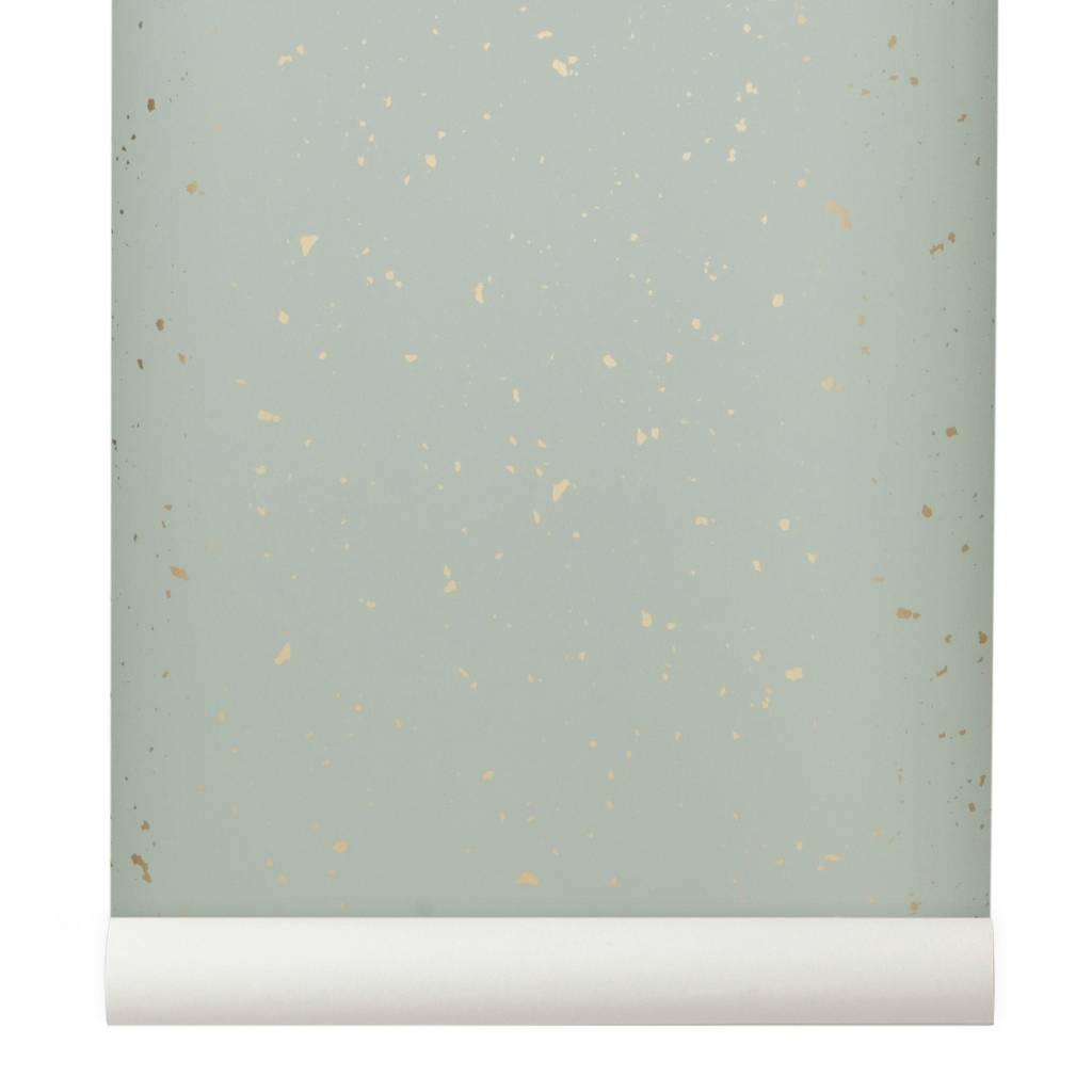 Ferm Living Behang Confetti mint groen 10x053m
