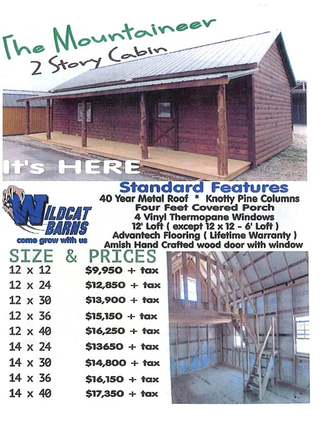 Wildcat Barns Repo Cabins : wildcat, barns, cabins, Wildcat, Barns