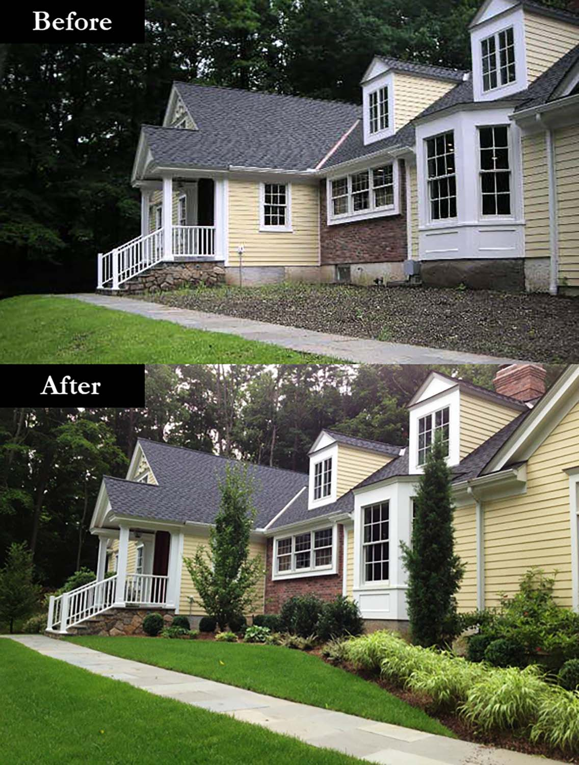 before u0026 after landscaping photos